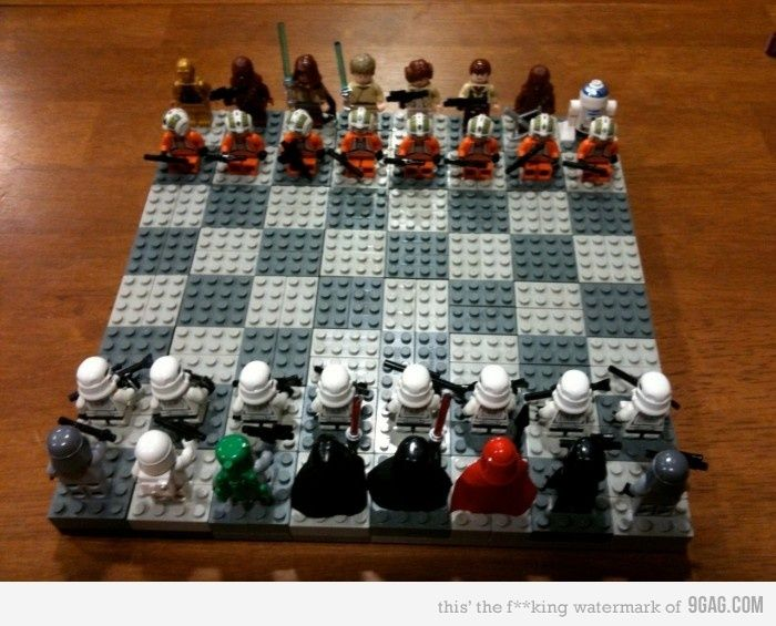 Star Wars Lego Chess Board