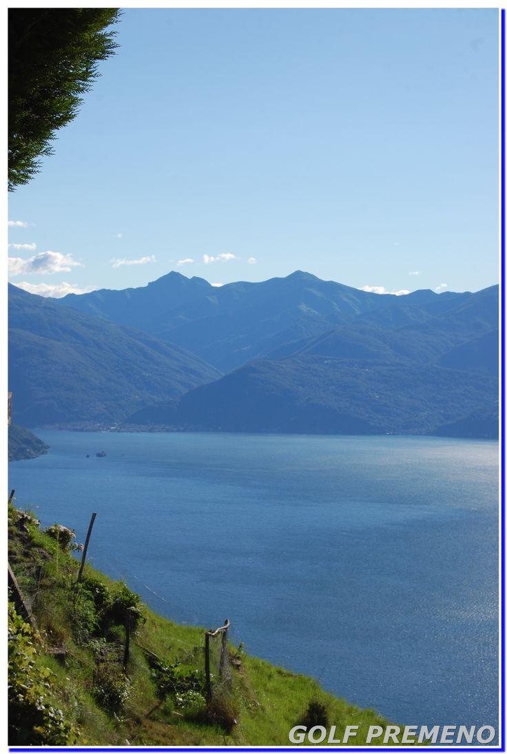 Fotogallery di Premeno e suoi suggestivi panorami, dal Lago Maggiore alle vette alpine.  Cela donne envie de décourvir le golf en Italie