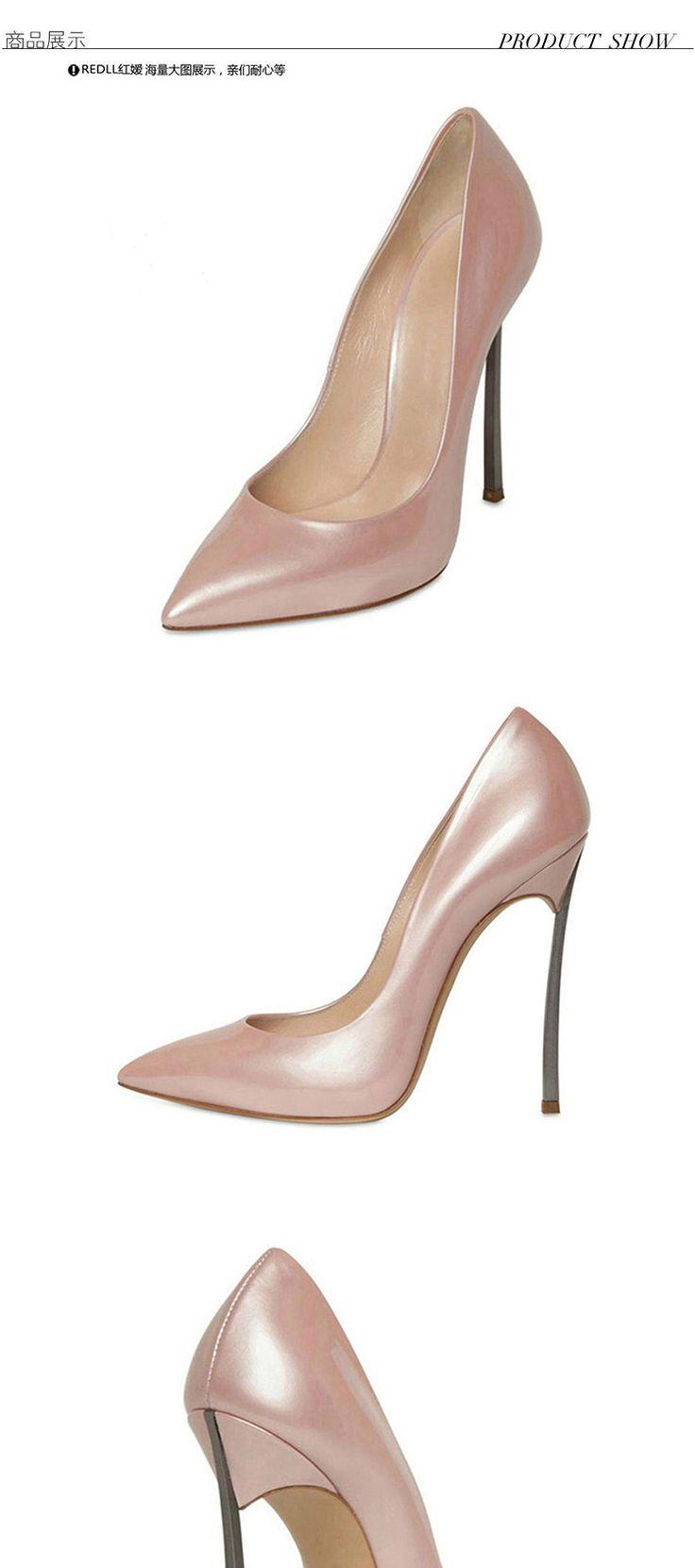 2 015 осенние новый ночной клуб ню цвет ультра высокие каблуки в порядке с лакированной кожи указал обувь осень обувь Европа в одиночку - Taobao
