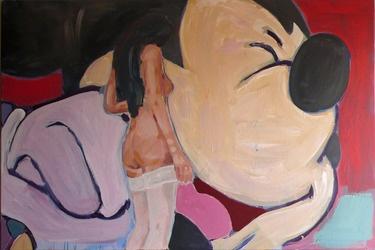 "Saatchi Online Artist Janusz Gałuszka; Painting, ""sex with Mickey Mouse"" #art"