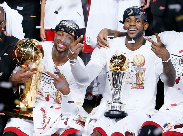 Wade & LeBron 2013 Champions