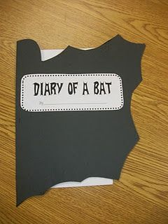 Read Diary of a Worm, Diary of a Spider, etc. and then students write their own Diary of a Bat at Halloween time. Love the cover on this one! --- THE LINK IS BAD, I just repinned it for the idea