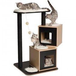 Rascador Para Gatos Vesper V-Doble Negro