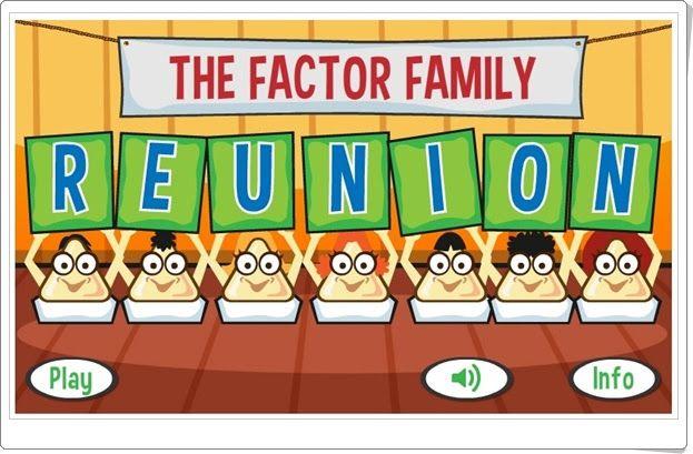 """""""The factor family reunion"""" (Factores en la multiplicación)"""
