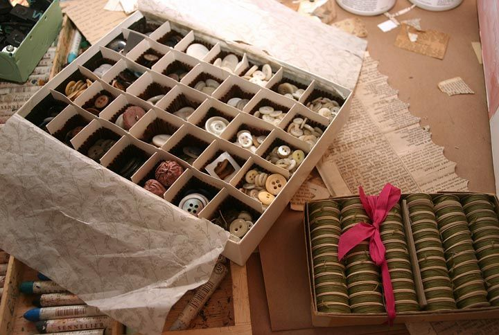 I knew I saved that box for something...: Vintage Fun, Personalized Spaces, Studios Workshop