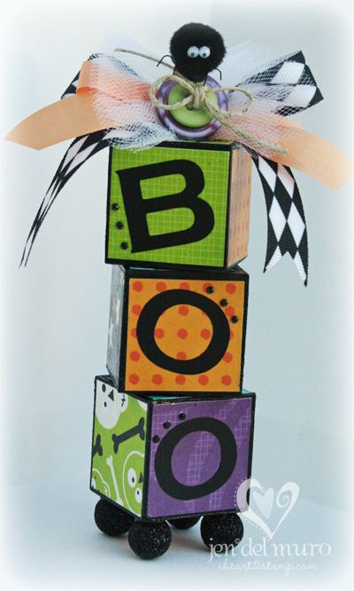 Cute Boo - iheart2stamp.com has really cute paper crafts.