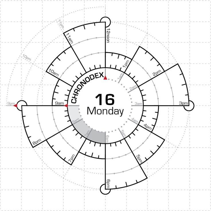 Így néz ki egy üres chronodex, használat előtt.