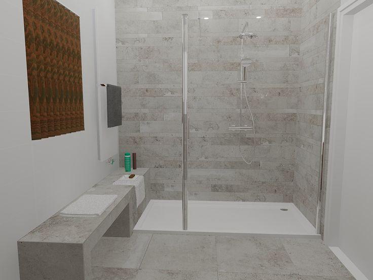 25 beste idee n over badkamer tegels ontwerpen op pinterest douche tegel ontwerpen douche - Imitatie natuursteen muur tegel ...
