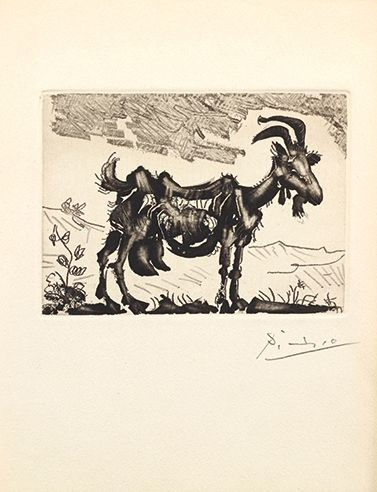 Artwork by Pablo Picasso, LA CHEVRE, Made of Etching in black on vellum