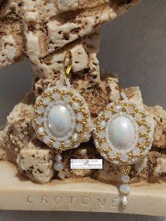 amorevitacrocette: orecchini bianchi embroidery
