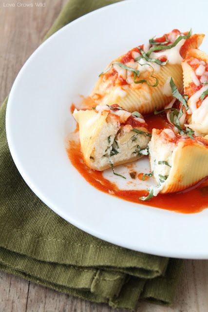 Ingredients Three Cheese Stuffed Shells 20 uncooked jumbo pasta shells 15 ounce container ricotta cheese 8 ounces (2 c...