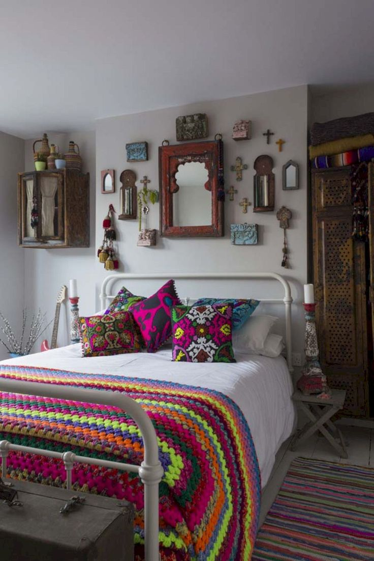 57 Adorable Bohemian Style Bedroom Decor Inspirations