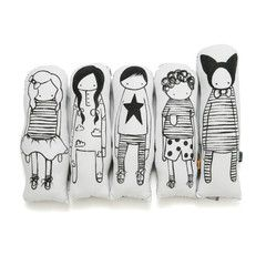 Soft Toy . Monochrome Doll - Options