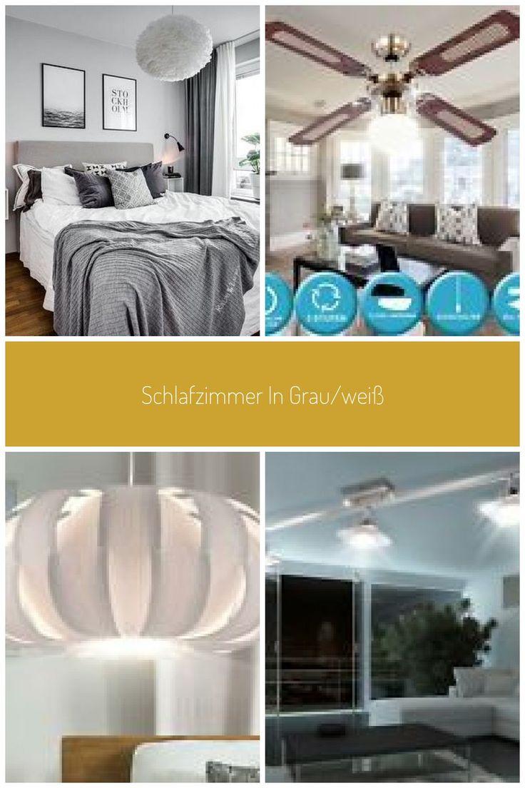Schlafzimmer In Grau Wei Mit Kuschligen Decken Und Bildern Ber Dem Bett Zimmer Wohnzimmer Decke Bilder Uber Bett