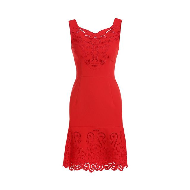 Fashion Cutout Women Embroidery Dress Sexy Cutwork A-Line Dresses S9612 \US $52.80 /piece  CLICK LINK TO BUY THE PRODUCT  http://goo.gl/oYWEYs