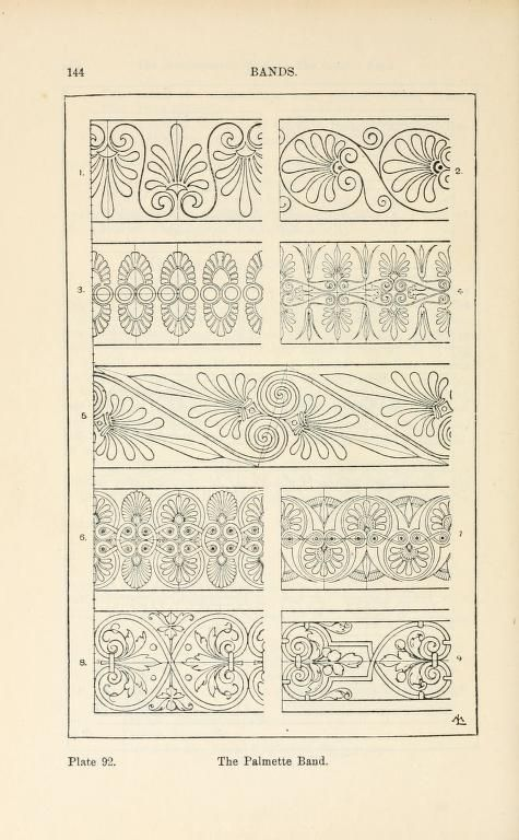 A handbook of ornament  band the palmette band  page 144