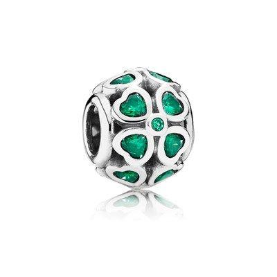Green Lucky Clover, Dark Green CZ