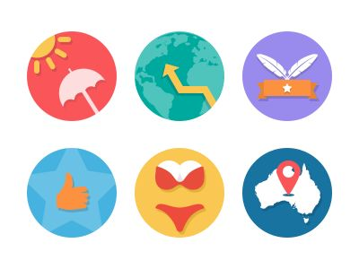 Colorful Flat Icons by Bota Iusti
