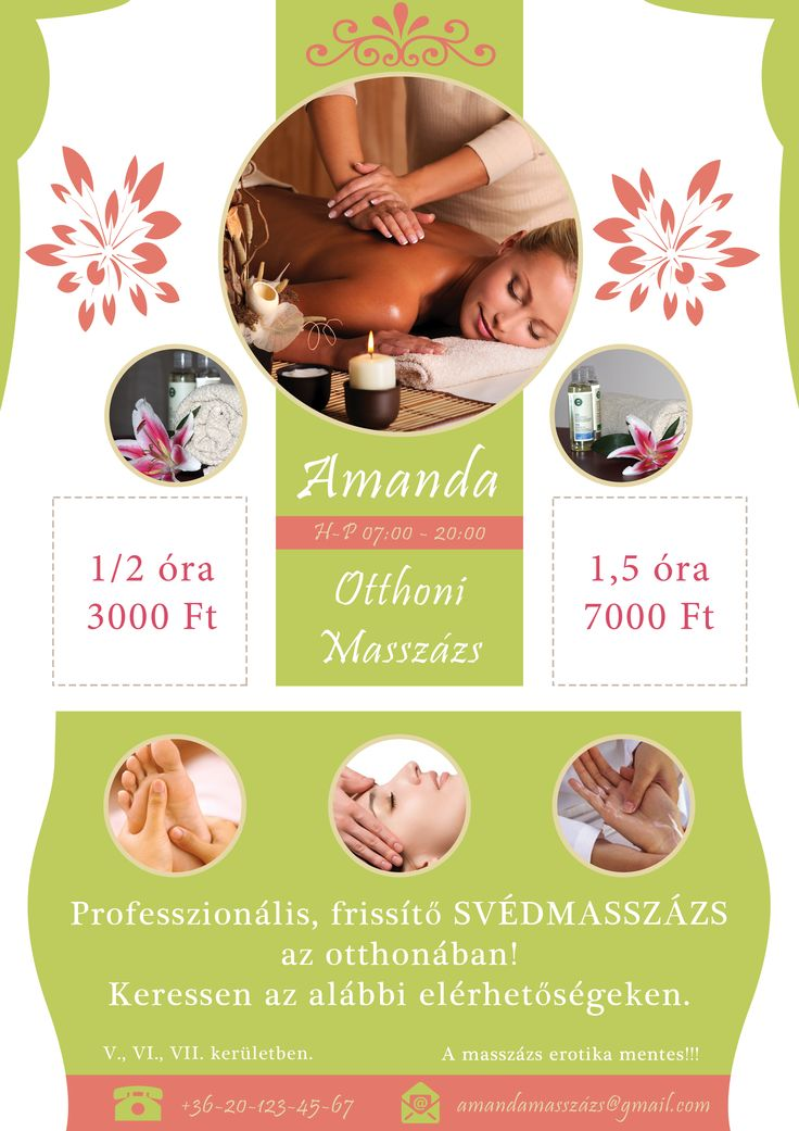 Best Massage Flyer Images On   Massage Business