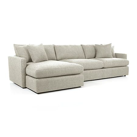 LoungeII two piece sectional from crate and barrel $2698