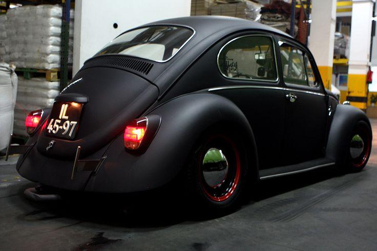 Beautiful matte black '69 Beetle                                                                                                                                                                                 Más