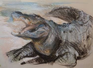 "Saatchi Art Artist simone Butturini; Drawing, ""The crocodile"" #art"