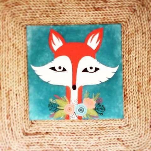 Fox with flower collar