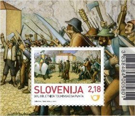 Stamp: 300th anniversary of the Tolmin Peasant Revolt (Slovenia) (Anniversaries) Mi:SI BL69,Yt:SI BF68