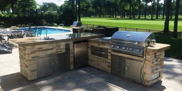 Custom Outdoor Kitchen Island Pre Built Kitchen Island Outdoor Kitchen Island Outdoor Kitchen Outdoor Bbq Kitchen