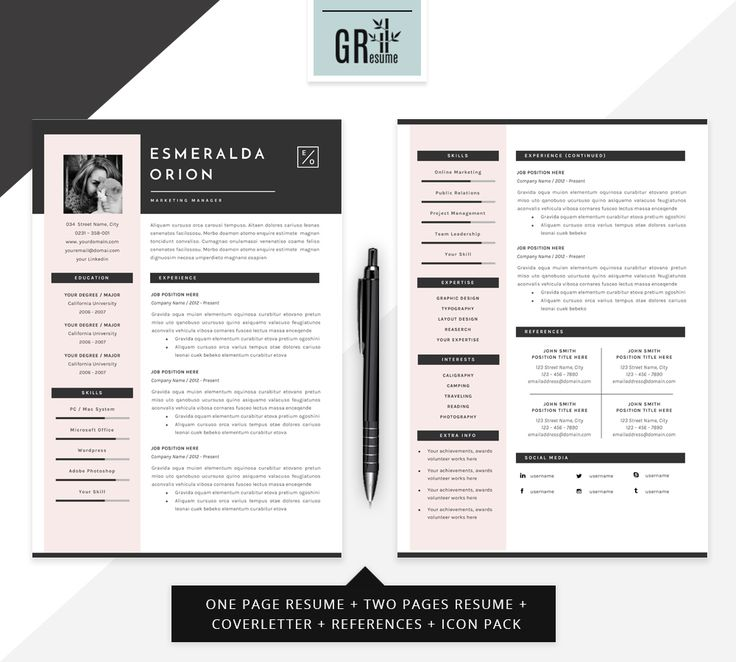 21 best Resumes images on Pinterest Resume templates, Resume - professional font for resume