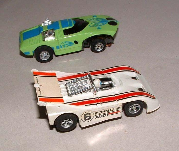1970s AURORA AFX SLOT CARS PORSCHE