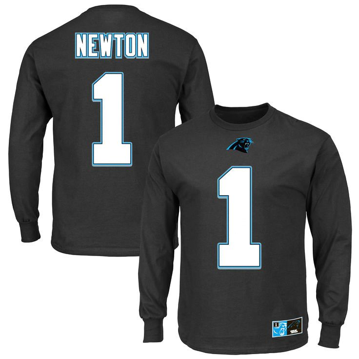 Carolina Panthers Majestic Cam Newton Eligible Receiver II Name & Number Long Sleeve T-Shirt - Black - $27.99