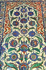 16th century Iznik Tiles, Takkeci Mosque, Istanbul