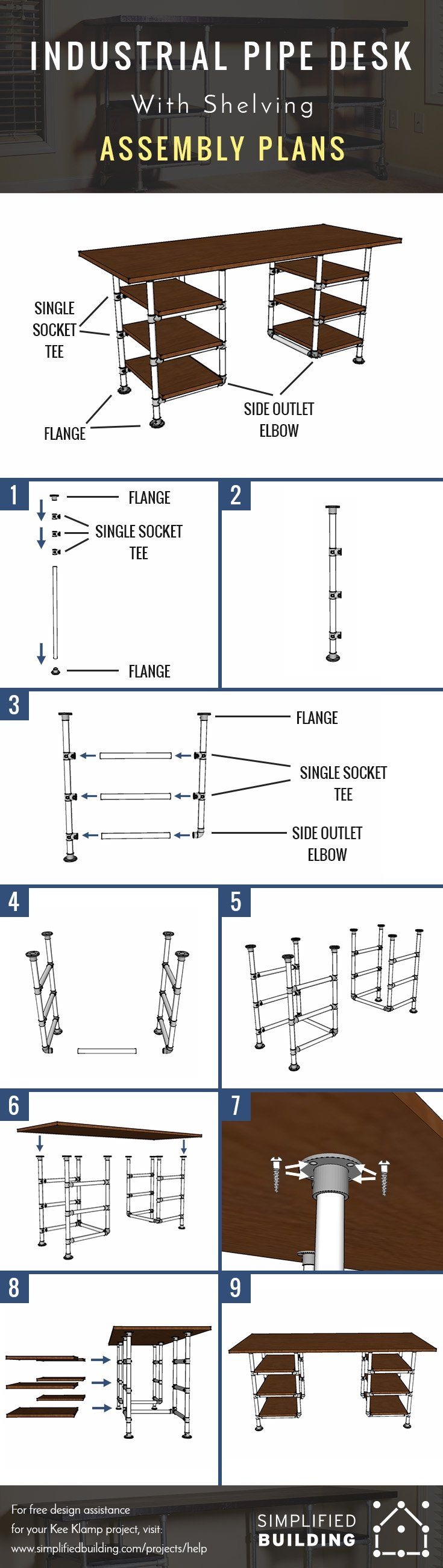 Best 25 pipe desk ideas on pinterest industrial pipe for Pipe lamp plans
