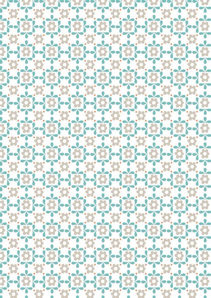 Sam & Mitzi Blue Daisy on white from Lewis & Irene and Juberry Fabrics