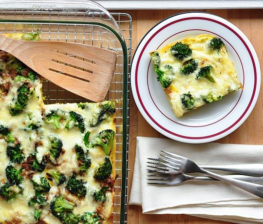 Broccoli & Spaghetti Frittata | Recipe | Pinterest | Cheese, Make ...