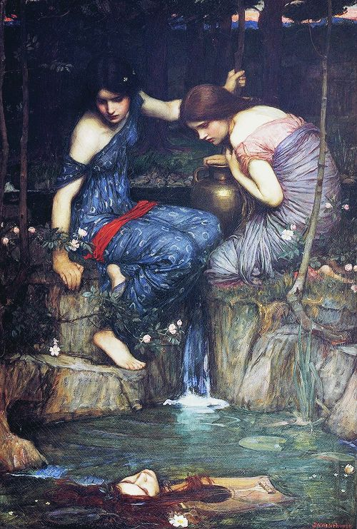 """""""Nymphs Finding the Head of Orpheus""""- John William Waterhouse, 1900"""