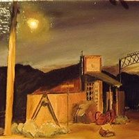 Tombstone Consolidated Mines Company  Oil on Canvas, 30 X 24 cm  Tombstone Consolidated Mines Company, Tombstone AZ USA,