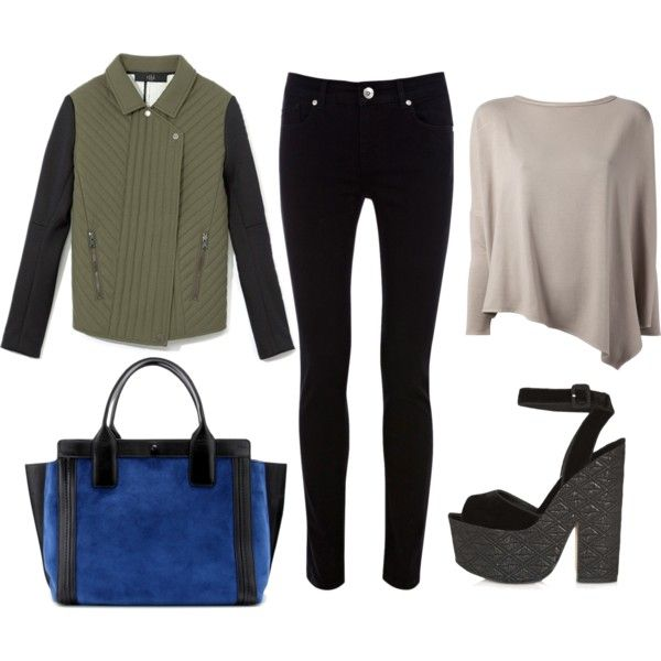 A fashion look from November 2013 featuring Helmut Lang blouses, TIBI jackets and Oasis jeans. Browse and shop related looks.