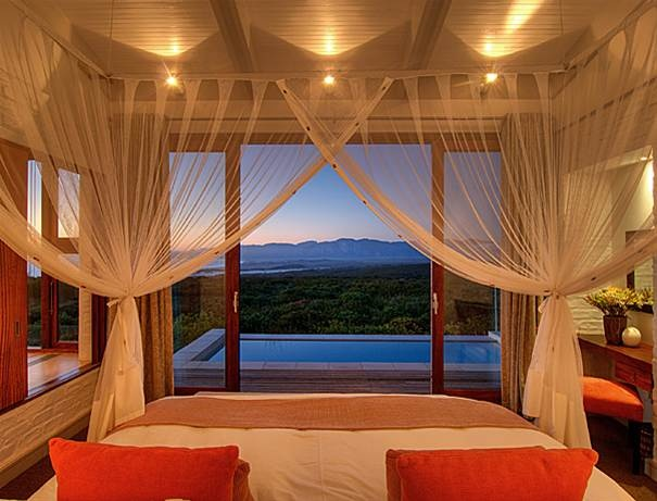 Grootbos Romantic Canopy beds at Forest Lodge http://www.grootbos.com/en/plan-your-stay/packages/honeymoon