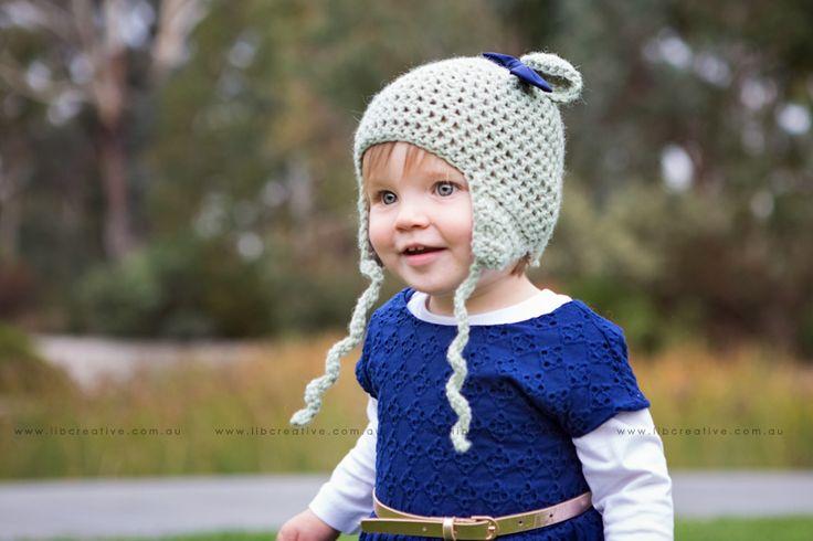Crochet, handmade bonnet, canberra business - family photography. Image copyright: Lib Creative