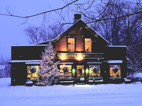 A stroll to the Shelburne Country Store in Vermont.