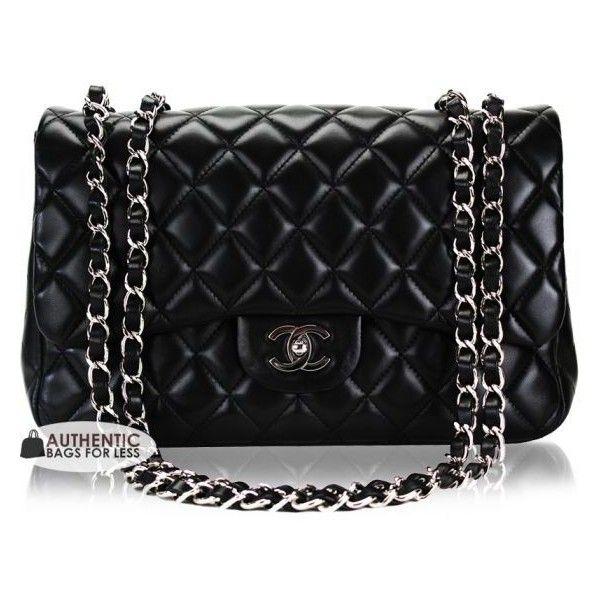 CHANEL - Chanel Classic Black Lambskin Jumbo Bag