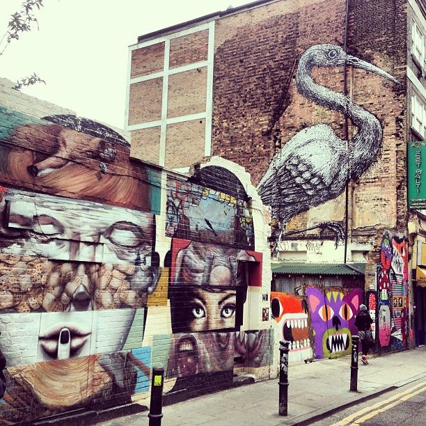 Brick Lane Market // 91 Brick Ln, Spitalfields and Banglatown, Greater London ~ So much art!