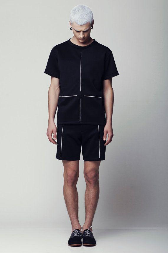 Mens Shirt Mens Black Shirt Mens Oversized Shirt Mens Short Sleeve Shirt Minimalist clothing mens clothing fashion mens shirt burning man
