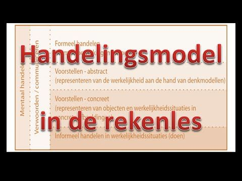 Handelingsmodel in de rekenles - YouTube