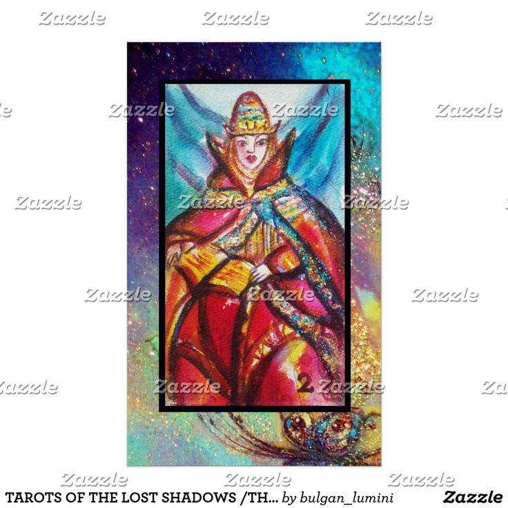 TAROTS OF THE LOST SHADOWS /THE HIGH PRIESTESS POSTER #tarot #astrology #psychicreader #ritual #tarots #cartomante #fineart #watercolor #artprints