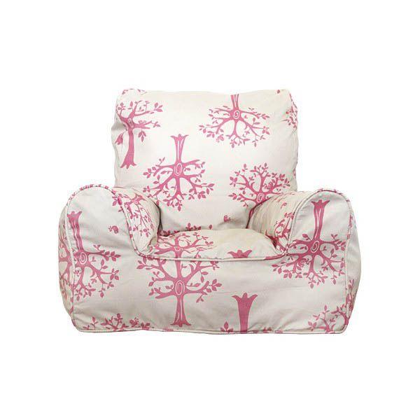 Lelbys- Kids Bean Bags- Bean Chair {Pink Orchard}  $109.00 #limetreekids #toys #kids #play #lounge #beanbag