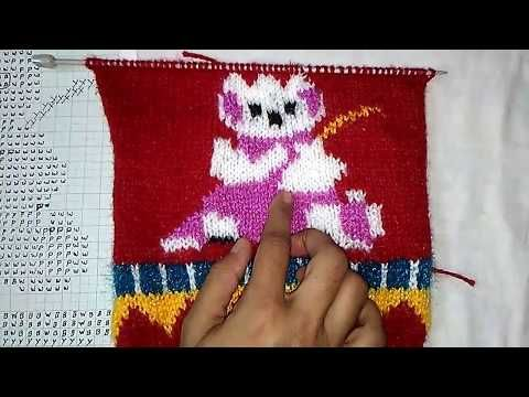 05f15d6f8c81c5 Rabbit Design for Baby Sweater (खरगोश बुनाई में) - YouTube