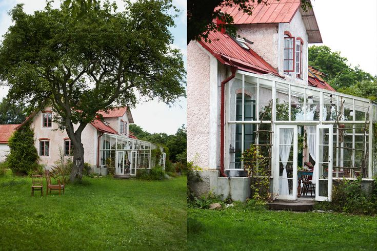 Peter Gherke Gotland- Greenhouse, outdoor living. Countryside